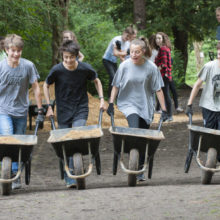 Churcher's students restore path on the Heath