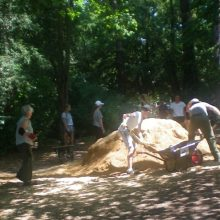Churcher's students restore more stretches of path on the Heath