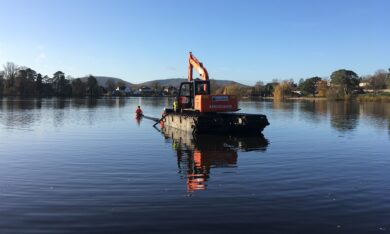 Heath Pond – bank stabilisation project
