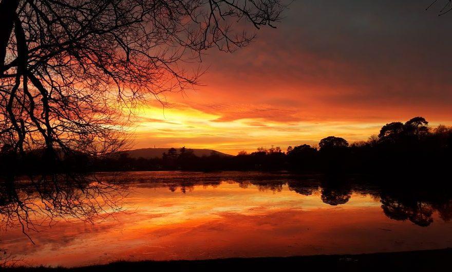 Solstice sunset Petersfield Heath