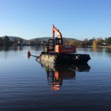 Heath Pond – bank stabilisation project